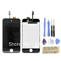 High Quality LCD Screen Touch Digitizer Glass Assembly + Free Tools for iPod Touch 4 4th Gen 4G Black Free Shipping