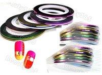 30 Mix Color Rolls Striping Tape Metallic Yarn Line Nail Art Decoration Sticker diy self-adhesion nail sticker