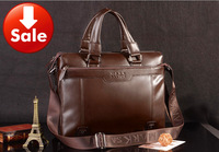 New 2014 fashion top genuine leather cowhide briefcase,men's travel bags,shoulder bags,business bag,men messenger bags