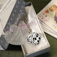 Free Shipping 50box Casino dice keychain SJ007 Luck Man Essentials