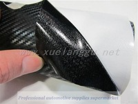 1.52m*35cm High quality 3D Carbon Fiber film Vinyl Car Sticker Carbon fiber sheet  black free shipping