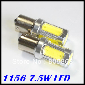 2x 1156/Ba15s High Power 7.5W LED Back Up Backup Reverse Light Bulb Lamp White free shipping