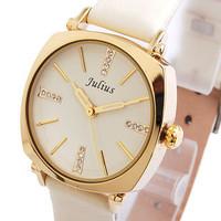 Original Design Brand Watches JULIUS,Luxury Full Rhinestone Crystal Women Wristwatches,Quartz Fashion Leather Band JA-388