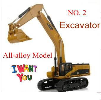 NEW large size excavator / all-alloy construction vehicles navvy model kids toys / delicate work / Super strong + free shipping(China (Mainland))