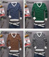 Hot Sale Casual men sweater Men long sleeve wool cotton blends pullovers Fashion Male Knitwear