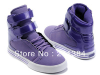 2014 Drop Shipping NWT Fashion Design OBYO Wears Women's Men's High Tops Purple Velcro Sneakers Skateboarding Boot Shoes Eu36-47