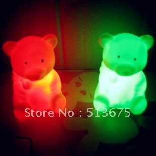 Fashion Free shipping Colorful Cartoon Night Light Children's Day gift mini Nightlight wedding lighting birthday gift(China (Mainland))
