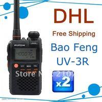 DHL FRREshipping 2pcs/lot UV-3R 2012 BAOFENG new launch handie transceiver UV-3R radio