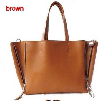 Fashion Genuine Leather Handbag Women Handbags Bags Shoulder Ladies' Bag Red HL1020 Purse,Free Shipping