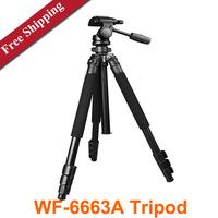Weifeng WF-6663A Professional Tripod Ball Head Camera Aluminum Tripods with Carry Bag  for SLR Digital Camera DV Camcorder tripe