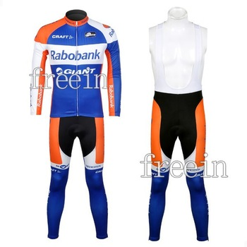 Bicycle wear for men 2012  rabobank long cycling jersey/cycling wear/cycling clothing and BIB pants Suits