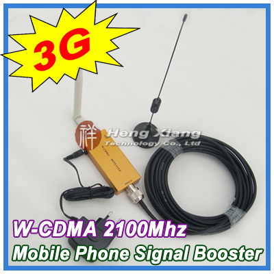 Best Price !!! Mini W-CDMA 2100Mhz 3G Repeater Mobile Phone 3G Signal Booster WCDMA Signal Repeater Amplifier + Cable + Antenna(China (Mainland))