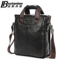 100% GENUINE LEATHER GUARANTEE Men Bags BOSTANTEN Brand Designer Handbags Business man shoulder Bag Fashion briefcase