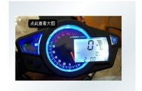 FREE SHIPPING LCD digital Odometer Speedometer Tachometer Motorcycle w/ Backlight