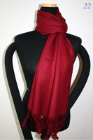 Sale New Burgundy Chinese Women's Silk Pashmina Shawl Scarf Solid Colour Scarves SD-05