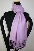 Sale New Lavender Chinese Women's Silk Pashmina Shawl Scarf Solid Colour Scarves SD-11