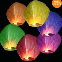 Wholesale  5pcs/lot Sky Lanterns,Wishing Lantern Chinese Kongming lantern for Wedding,free shipping