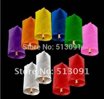 25pcs pure color Cylindrical Shape flying paper sky lantern Manufacturer selling flying paper sky lanterns Wish gift,SL508
