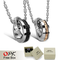OPK JEWELRY  Pendant Stainless Steel Jewelry HOt Fashion couple Jewelry FOr LOVE 761