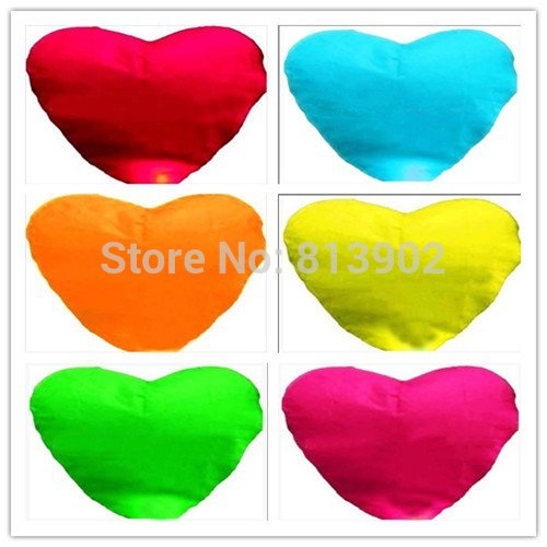 20pcs/lot Novelty Wishing Lamp Heart-shaped Lanterns Sky Lanterns for Easter/ Valentine's day / Graduation ,SLF12(China (Mainland))