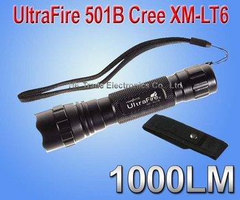 UltraFire 501B Cree XM-LT6  flashlight 1000 Lumens LED Flashlight lamp+Holster Torch case