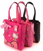 Hot sale women's shoulder bag hello kitty shoulder bags Canvas waterproof shopping bag Gilrs lovely handbag Cute hand bags