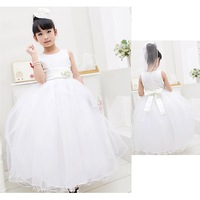 Girl Dress Flower girl dresses Kids Dancewear Sleeveless Long items Princess Wedding dress