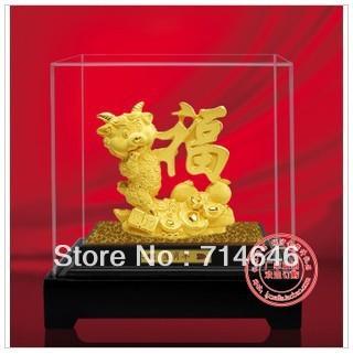 F5004 goat figurine advanced 24K gold art gift handiwork-wholesale hot sales chinese zodiac artiste gift
