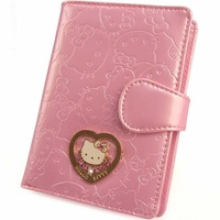 2013 NEW ARRIVE Hello kitty wallet PU wallet High quality leather notecase Female large purse Lovely PINK wallet with diamond