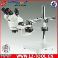 Free Shipping!  7X-90X Single boom stand microscope, digital zoom microscope+ 5M camera