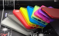 50PCS X TPU High Quality Plastic Clear Scrub Transparent Case For iPhone 5