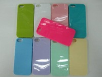 10PCS X Colorful Candy TPU Silicon Plastic Soft Case Cover For iPhone 5,Free Singapore Post