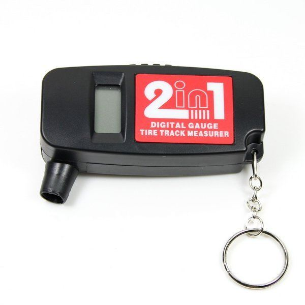 New 2-in-1 Bar PSI Digital LCD Car Wheel Tire Air Pressure Gauge with Tread Depth Gauge(China (Mainland))