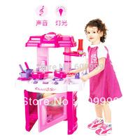 Child's kitchen work table/Kid kitchen utensils toys/Child electronic kitchen toy