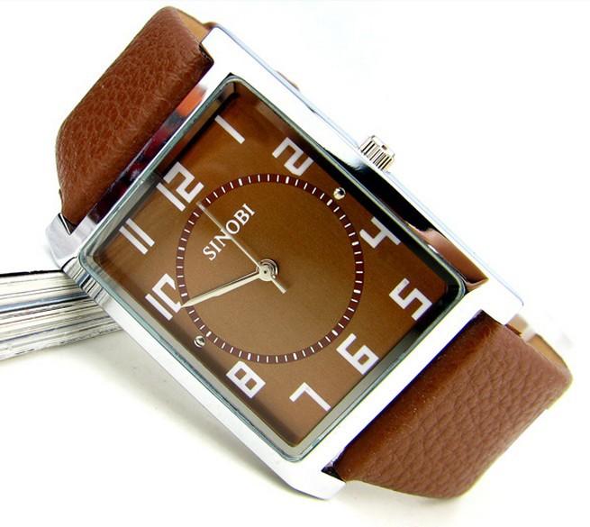 100% real SINOBI brand watches,strap watch fashion male watch mens watch fashion table(China (Mainland))