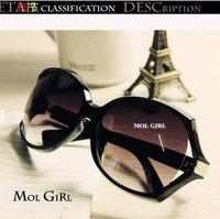 2012 fashion large frame sunglasses women's star style sunglasses fashion vintage frog glasses