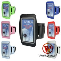 Wallytech 200 x For i9300 Sport Armband Cover Case For Samsung Galaxy Galaxy SIII S3 Free Shipping (WSA-012)