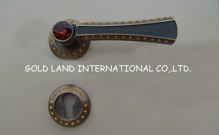 72mm Free shipping 2pcs handles with lock body+keys crystal glass gate lock The bedroom door lock Hold hand lock(China (Mainland))