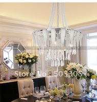2012 New designed wholesales Crystal chandelier in chrome color for Hall ETL8093