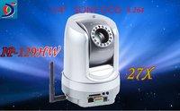 Ship free Newest  IP-129HW 1/4 SONY CCD  WIFI H.264 27X Optical Zoom PTZ IP Camera  webcam