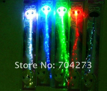 50pieces Free shipping Colorful Flash LED Braid/ flashing hair band/ party hair band/led hai band/ led flashing Hair braids