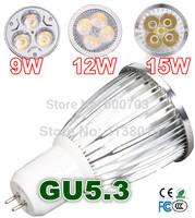 Sales DHL FREE 1PCS  220V GU5.3 3W 9W12W 15W Dimmable LED SpotLight Bulbs lamps 85V-265V downlights (MR16 GU10 E27 E14)