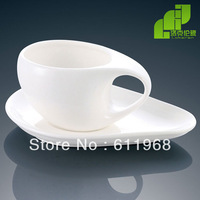 FREE SHIPPING! Lkl magnesium white porcelain tableware fashion coffee tea cup plate