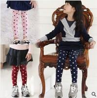 Free shipping 5pcs/lot Cute girl's legging star design Cotton kids slim Pantyhose