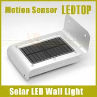 1pcs New Arrival 16 SMD LED Solar Power Motion/ Ray Sensor Garden Security Lamp Outdoor Garden Waterproof Wall Light