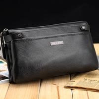 New Cowhide Commercial Men Bag Genuine Leather Clutch Bag Wallet  -6078