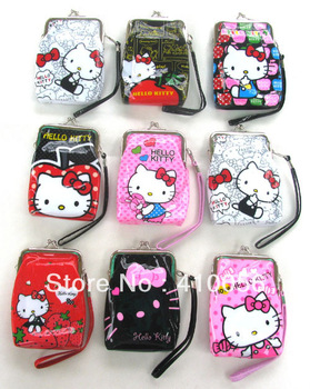 Free shipping Hello Kitty Cosmetic Bag /Cartoon wallet/Gift purse/ 200 pcs/Wholesale