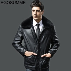 2013 new fashion bomber jacket male fur jacket men male faux leather coat rex rabbit hair thickening leather clothing TBM007(China (Mainland))