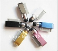 Free shipping 5000pcs/lot2 in 1 Capacitive Stylus Touch Pen +Dustproof plug for Iphone 4S,3G,3GS ect. mixed colours so great