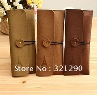 C316 South Korea stationery han2 ban3 creative restore ancient ways elegant tower wool skin pen bag OPP bag packaging
